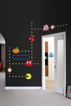"""Blik Pac-Man Ghost Wall Decals by Blik Wall Decals. $59.94. Blik. In this PAC-MAN wall decal, Blinky, Pinky, Inky and Clyde quickly roam the maze while trying to catch PAC-MAN. Watch out for Inky, he's unpredictable and his random movements make him dangerous! All PAC-MAN wall decals are official NAMCO BANDAI Games Inc licensed products. 75 decals per package * 1 6.5"""" printed Pac-Man * 7 7.5"""" printed ghost decals * 16 printed ghost eyes * 4 various sized printed fruits * 47 v..."""
