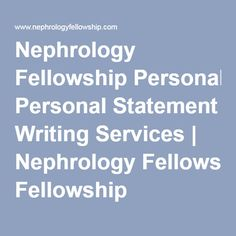 fellowship personal statement nephrology