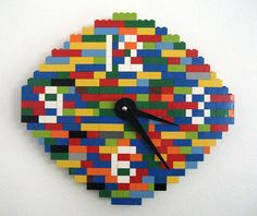 Lego Clock galleries, clock mechan, lego idea, rais kid, legos, clocks, lego clock