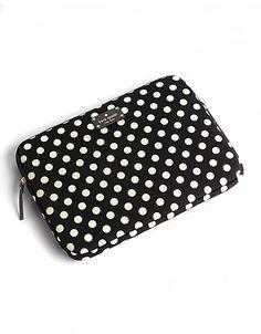 Kate Spade Polka Dot Laptop Sleeve