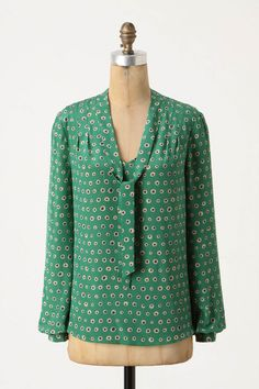 Great tie neck blouse, courtesy of Anthro...