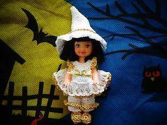 "Handmade Crochet Doll Clothes Fit 4' Kelly Doll"" The Good Witch"" | eBay sharmar2011 10/2013"