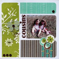 Colorblocking with rounded corners Layout: Cousins
