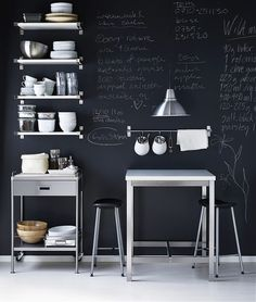 i love the idea of chalkboards in domestic kitchens by Simone Smith