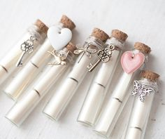 Valentines day love note in a bottle