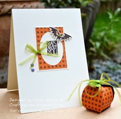 Stampin' Up ideas and supplies from Vicky at Crafting Clare's Paper Moments: Bats about you at halloween!