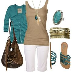 Teal and neutrals
