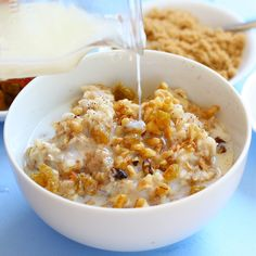 Vanilla spiced oatmeal....check out the ginger/orange topping for oatmeal too!