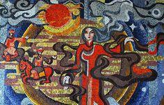 Soviet Airport Mosaics