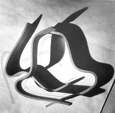 Herbert Matter photo of furniture design work under way in the Eames Office circa 1943