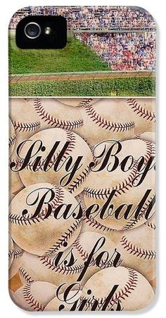 Baseballs Iphone Cases - Silly Boys Baseball is for Girls 3 iPhone Case by M and L Creations