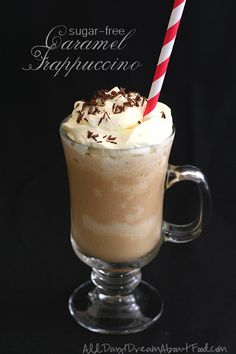 Low Carb Sugar Free Caramel Frappuccino Recipe | All Day I Dream About Food