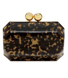 Stella McCartney Plexi Tortoise Shell Box Clutch