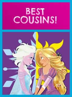 Frozen / Tangled Crossover - Queen Elsa and Princess Rapunzel - Best Cousins! (Based on the widely-accepted, but slightly unofficial canon that the Queen of Corona and the former Queen of Arendelle are sisters.)