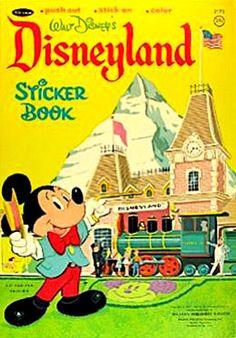 Disneyland Sticker Fun Coloring Book, Whitman 1967