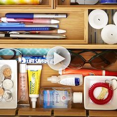 Clutter be gone! Tame the junk with these helpful tips: http://www.bhg.com/videos/m/83871989/junk-drawer-organization.htm?socsrc=bhgpin080114junkdrawerorganization