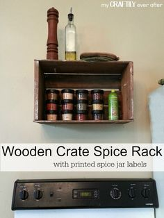 wooden crate spice r