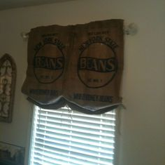 My no sew burlap curtains my moma and I made.