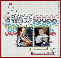 Diamond Chain Border Maker Scrapbook Layout Project Idea from Creative Memories - using Rewards Club exclusive products available through January 1, 2013