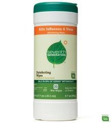 Seventh Generation Disinfecting Wipes, Lemongrass & Thyme (8.6/10)