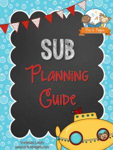 Printable Substitute Planning Guide for Preschool and Kindergarten
