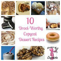 best copycat dessert recipes! Love these!