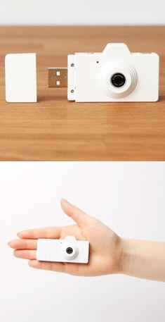 Clap USB Stick & Camera White by Superheadz #productdesign