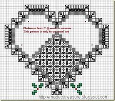 hardanger christmas tree heart