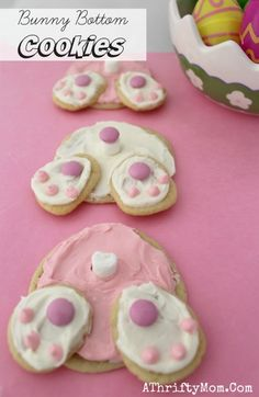 Bunny Bottom Cookies