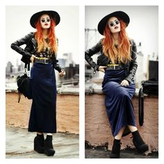 Lua of Le Happy in our Saltwater Gypsy Vintage Velvet Maxi Dress!