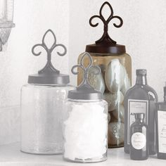 I pinned this Large Fleur de Lis Jar from the Napa Home & Garden event at Joss and Main!
