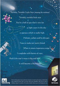 Twinkle Twinkle Little Star (the science version)