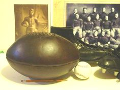 Melon football - first passing football circa 1913-1934  find one at pasttimesports.biz