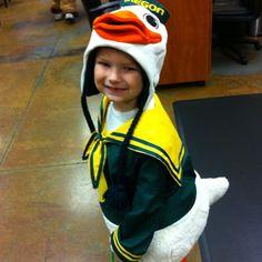 Oregon Duck Mascot! Go ducks! This'll be my kid