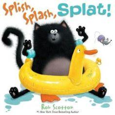 Splish, Splash, Splat! by Rob Scotton. Follow the link and scroll through the Barnes & Noble  videos. http://www.barnesandnoble.com/u/online-storytime-books-toys/379003588