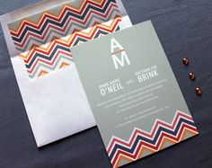 Missoni inspired Wedding Invitation!
