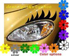 PT Cruiser Eyelashes Decals Headlight Car Chrysler Black Eyelash Auto New Light | eBay