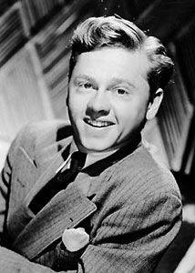 Mickey Rooney, teen aged actor.