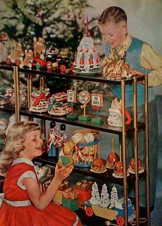 All kinds of vintage Christmas fun! #vintage #1950s #Christmas #toys #decorations #kids. → For more, please visit me at: www.facebook.com/jolly.ollie.77
