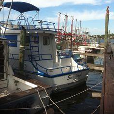 Fishing Boats docked in New Port Richie Fl, Seaside Inn