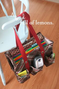 Organizing with utility totes   A Bowl Full of Lemons