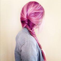 Trenza o braid de color, es bellisimo!!!