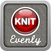 Knit Evenly app.   Figure out how to increase or decrease evenly.