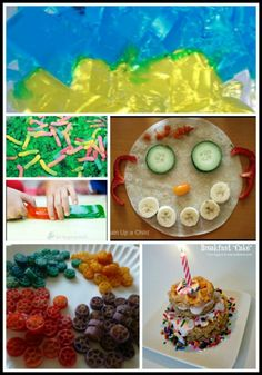 15 ways to let kids have fun with food! Fun meals, snacks, a cool birthday tradition, and more!