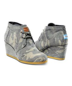 Another great find on #zulily! Washed Camo Canvas Desert Wedge #zulilyfinds