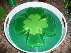 I make my Shamrock Jello Shot Mold of DOOOOOOOM!! every St. Paddys Day :)