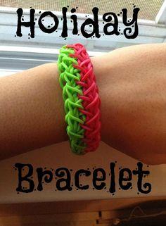 How to make the rainbow loom holiday bracelet