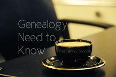 11 #Genealogy Things You Need to Know Today, Friday, 11 July 2014, via 4YourFamilyStory.com. #needtoknow #familytree