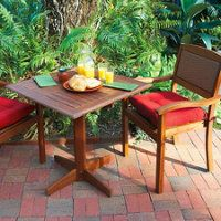 Wood Pedestal Table with 2 Stacking Chairs stack chair