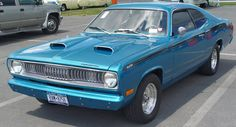 1972 Plymouth Duster 340 - Blue - Front Angle